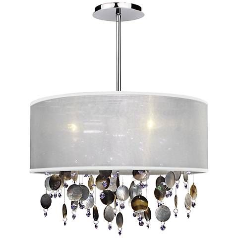 "Around Town Pearl and White 18"" Wide Pendant Chandelier - #U5123 
