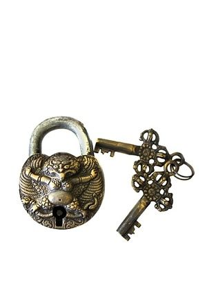 45% OFF Locks of Love Vintage Inspired Brass Padlock with Fertility Symbol, c1960s