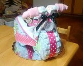 Minnie Mouse Diaper Cake Tricycle / Motorcycle