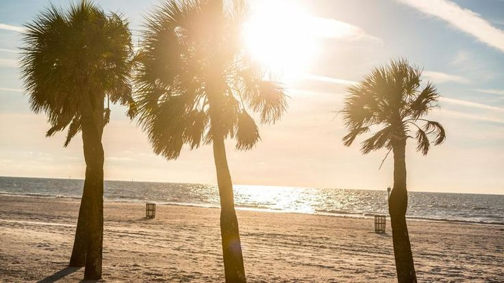 Clearwater beach, Floride, USA - Située sur une île du même nom, dans le Golfe du Mexique, elle est souvent classée parmi les plus belles plages nord-américaines.