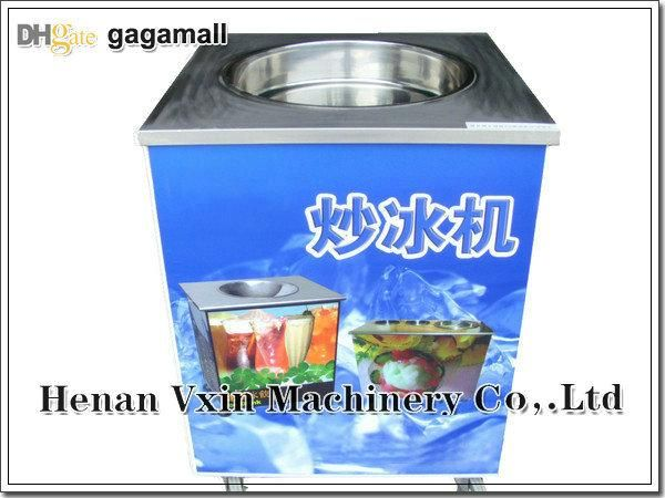 Wholesale cheap fried ice cream machine online, compressor - Find best commercial 1800W 220V 50Hz round flat pan milk fruit chocolate fried ice cream machine/ fry ice pan/frying ice cream roll machine at discount prices from Chinese ice cream makers supplier on DHgate.com.