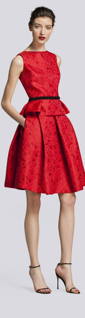 Carolina Herrera Fall 2013 what a gorgeous Mother of the Bride dress for a Christmas wedding!
