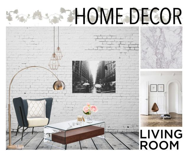 Home decor | living room by neeacamillaa on Polyvore featuring interior, interiors, interior design, home, home decor, interior decorating, Zuo, Dot & Bo, Ink & Ivy and Bloomingville