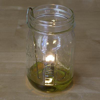 Olive oil lamp