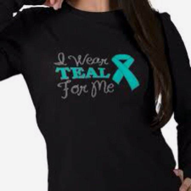 teal ribbons for Anxiety disorders awareness.... my phone case is teal so i am supporting myself....