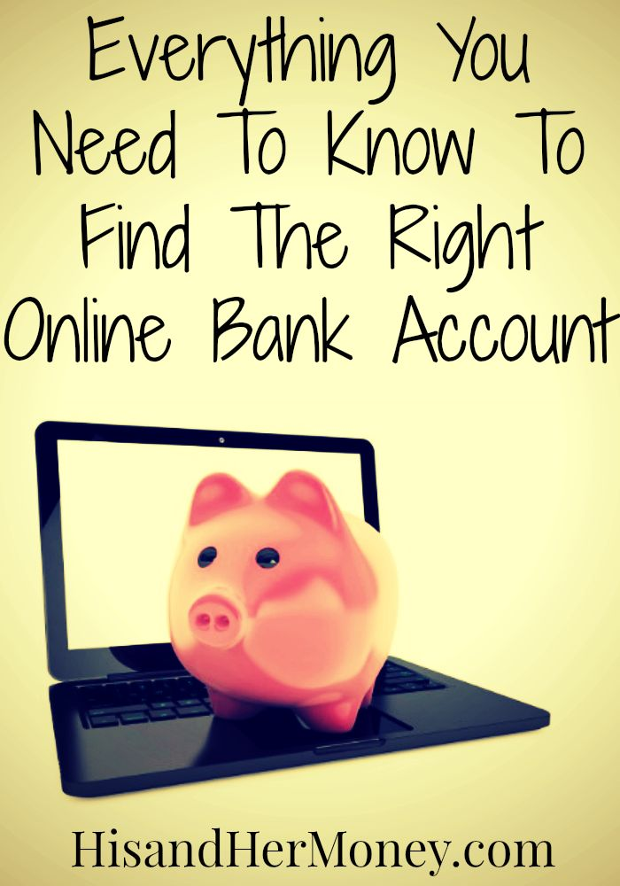 Everything You Need To Know To Find The Right Online Bank Account. Opening a bank account online can be very scary and daunting. I love the way she breaks down the process and gives helpful tips to make sure you find the right online bank to go with. She shares things to look out for that I never would have known on my own.