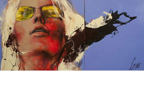Face With Yellow Sunglasses Print, Limited Editions of 10.  Dimensions: 24'' x 48''