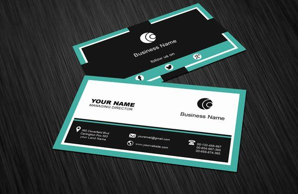 Social Media Business Card Template Elegant Free Social Media Business Card Temp Business Card Template Word Business Card Psd Business Card Templates Download