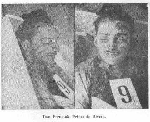 Don Fernando Primo de Rivera asesinado en la cárcel Modelo el 23 de agosto de 1936 PARES