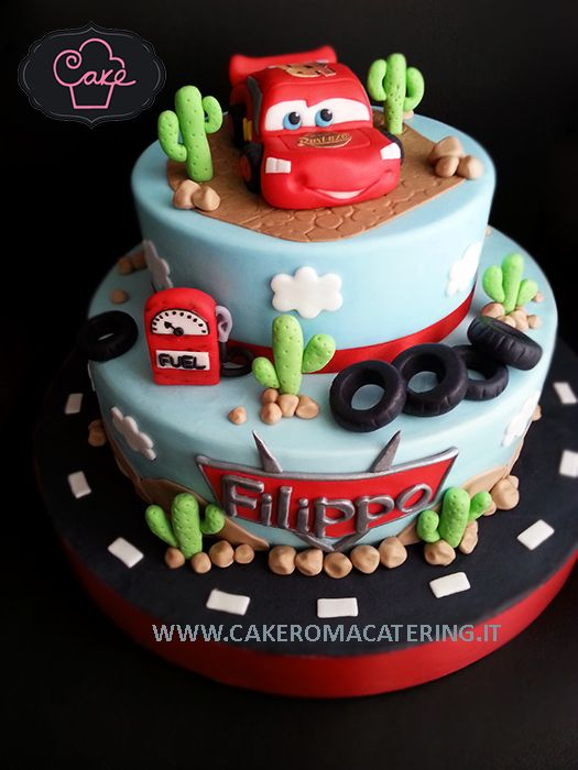Car's- Saetta Mc Queen Cake                                                                                                                                                     Más