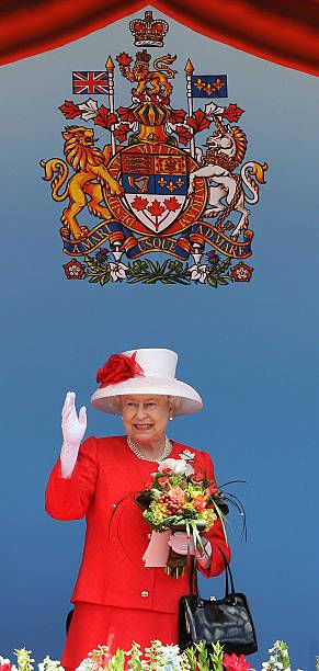 Queen Elizabeth II arrives for Canada Day celebrations on Parliament Hill on July 1, 2010 in Ottawa, Canada. The Queen and Duke of Edinburgh are on an eight day tour of Canada starting in Halifax and finishing in Toronto. The trip is to celebrate the centenary of the Canadian Navy and to mark Canada Day. On July 6th the Royal couple will make their way to New York where the Queen will address the UN and visit Ground Zero.