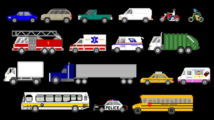 Street Vehicles - Cars and Trucks - The Kids' Picture Show (Fun & Educat...