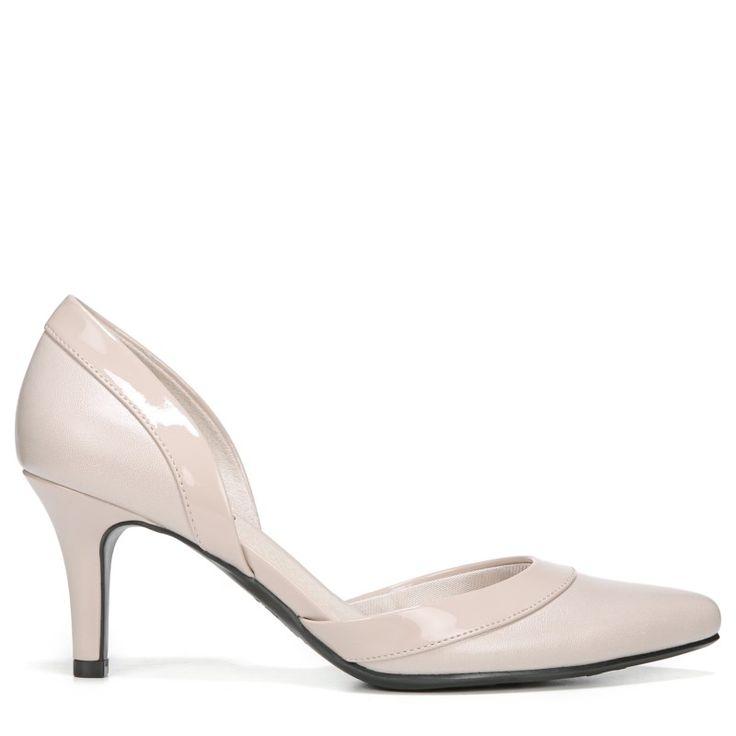 Lifestride Women's Saldana Medium/Wide D'orsay Pump Shoes (Taupe)