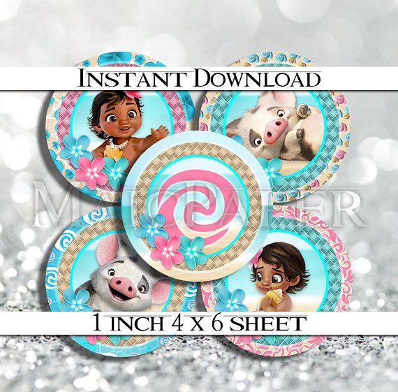 INSTANT DOWNLOAD Baby Moana Pua 4x6 Digital 1 Inch