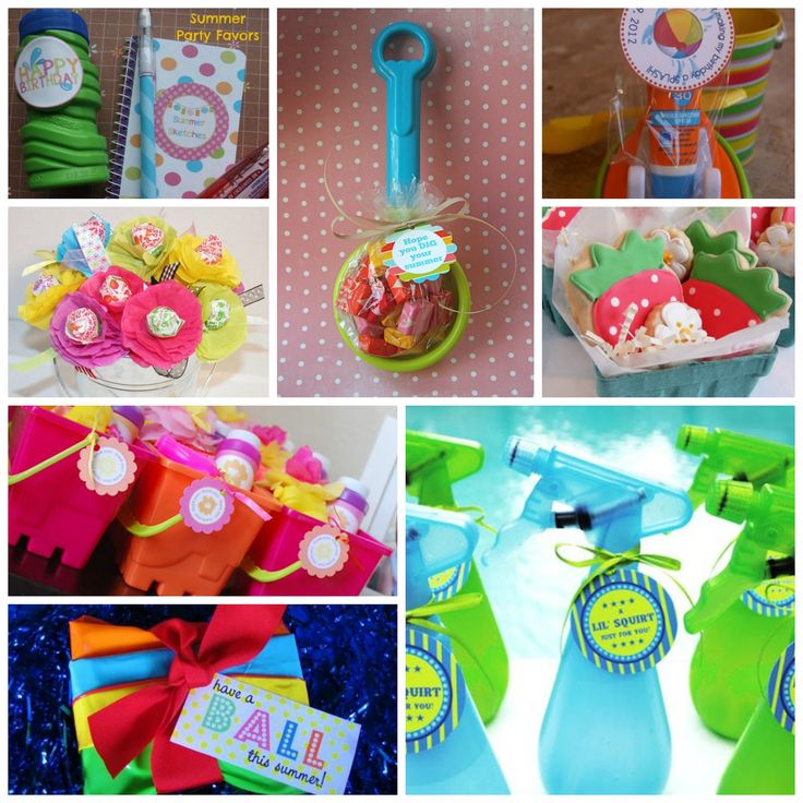 Summer Party Favors– check out these cute ideas and share your own!