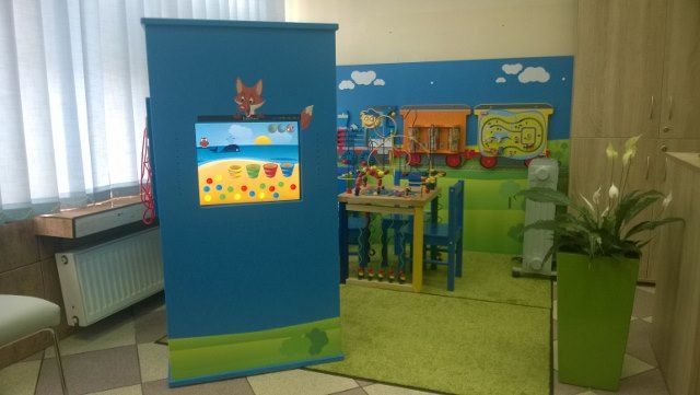 Interactive kids corner customized for a local tourist information center
