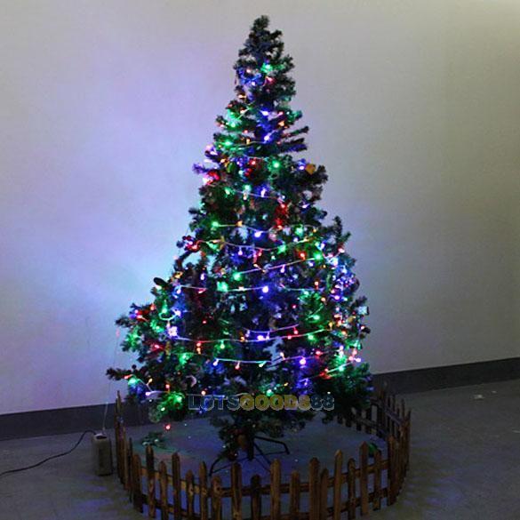 LS4G 2014 Новый Новогоднее Украшение 10 м Светодиодная Лента Лампы Красочный Водонепроницаемый для Сада Рождественская Елка 220 В AC