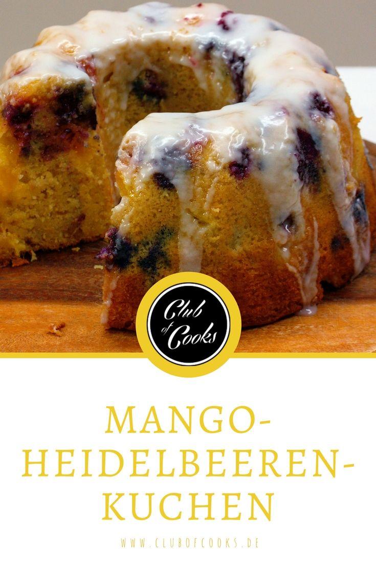Der Mango-Heidelbeeren Kuchen wird durch die Früchte richtig saftig und schmeckt erfrischend-süß. Direkt ausprobieren!