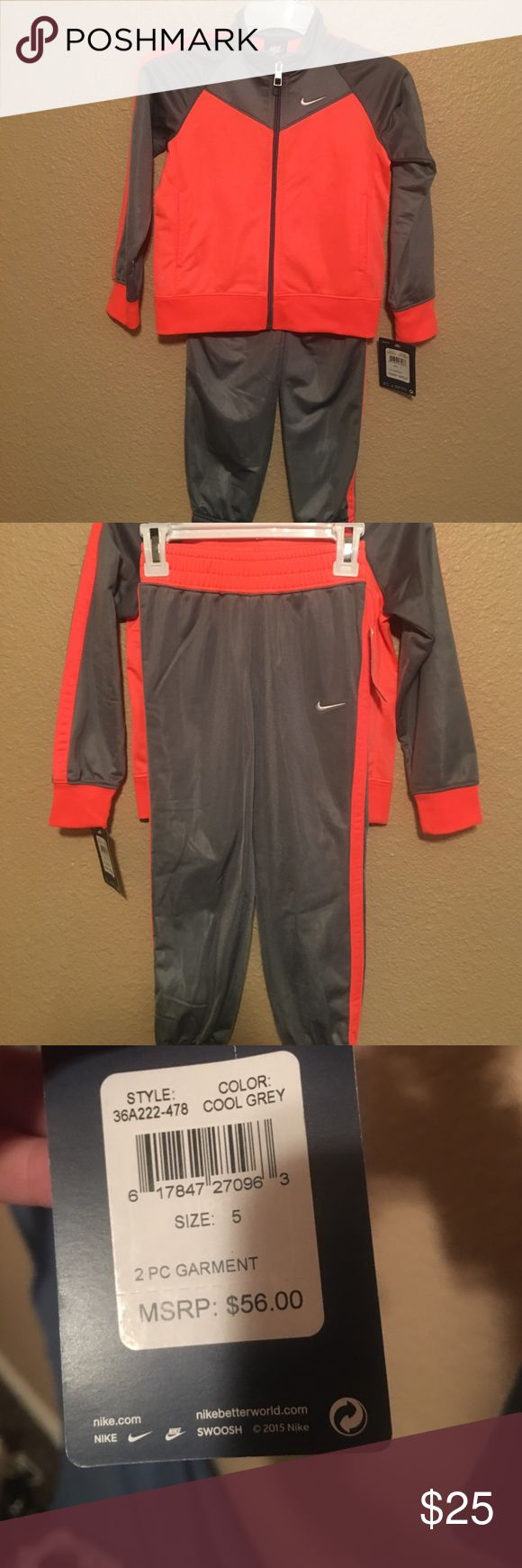NWT toddler 5 Nike sweat suit Brand new. So adorable! Nike Matching Sets