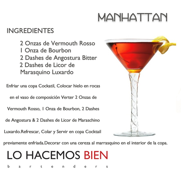 Manhattan - Festejá con Estilo! de LO HACEMOS BIEN bartenders Como preparar un Manhattan - Recipie How to prepare a Manhattan Cocktail - Party with style!