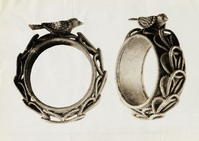 Ertuscan wedding ring from the 6th and 4th Century, B. C.