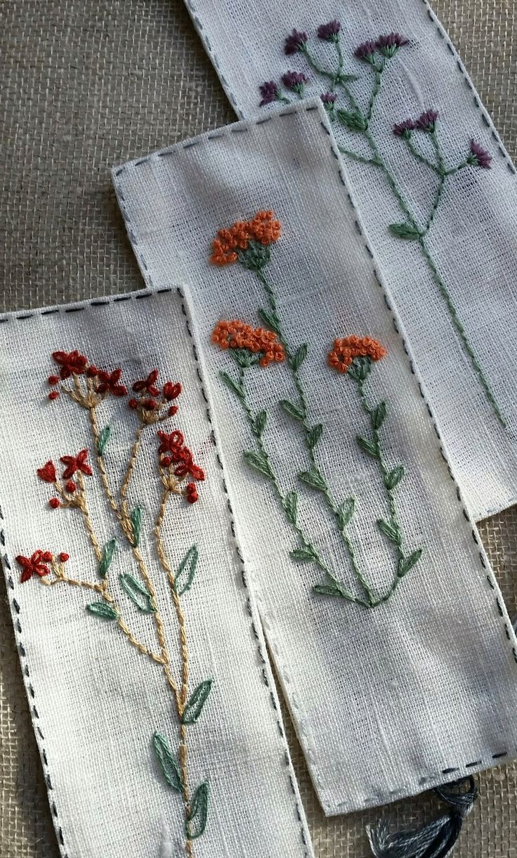 Brazilian embroidery bedspread designs - Ideas For Embroidered Bookmarks