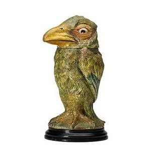 "MARTIN BROTHERS; Glazed stoneware bird tobacco jar, England, 1898; Head and base signed Martin Bros. London + Southall 1-1898; On base: 11"" x 6"""