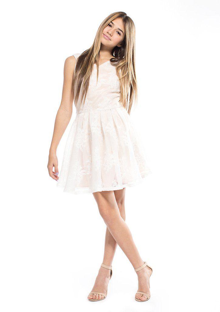 Tween White Dresses