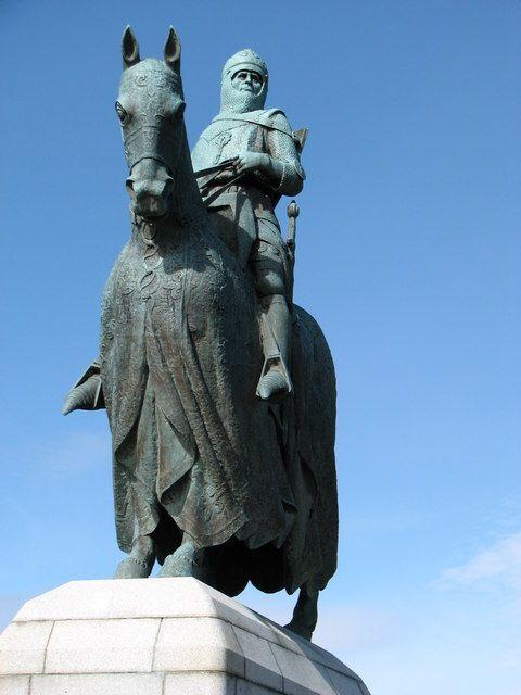 Robert Bruce statue at Bannockburn