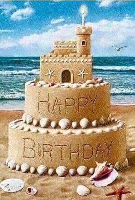 Картинка с днем рождения пляж, хорошего дня прикольные