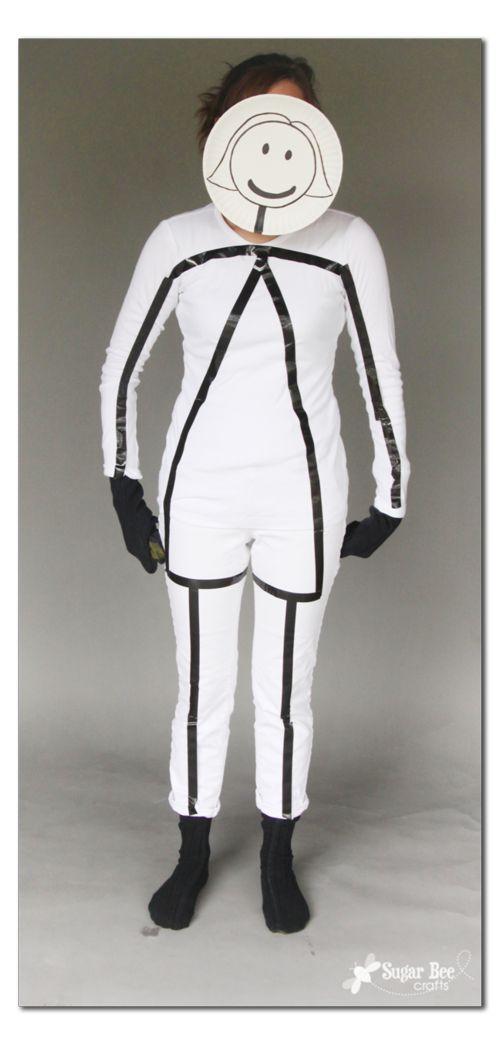 Stick figure costume