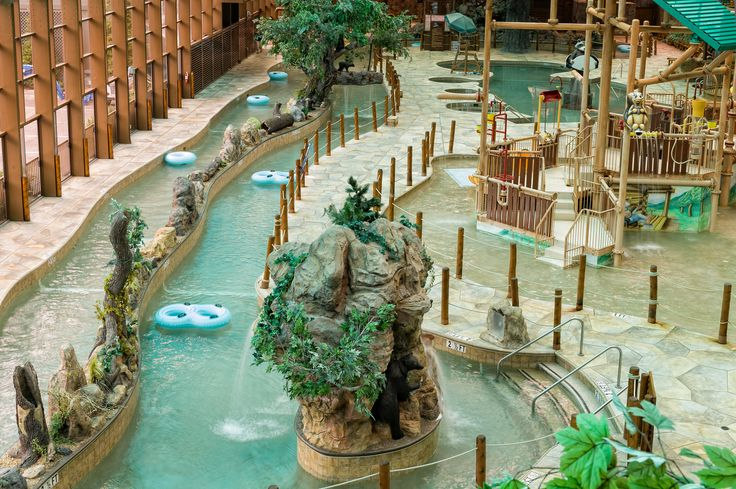 Gatlinburg indoor water park at Westgate Smoky Mountain Resort & Spa.