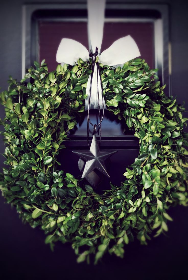 already have the boxwood wreath (target!)... now i just need a pretty vintage-looking star!