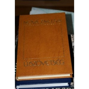 Slovak New Testament / Pismo Nova zmulva / and Hungarian New Testament in mirror translation