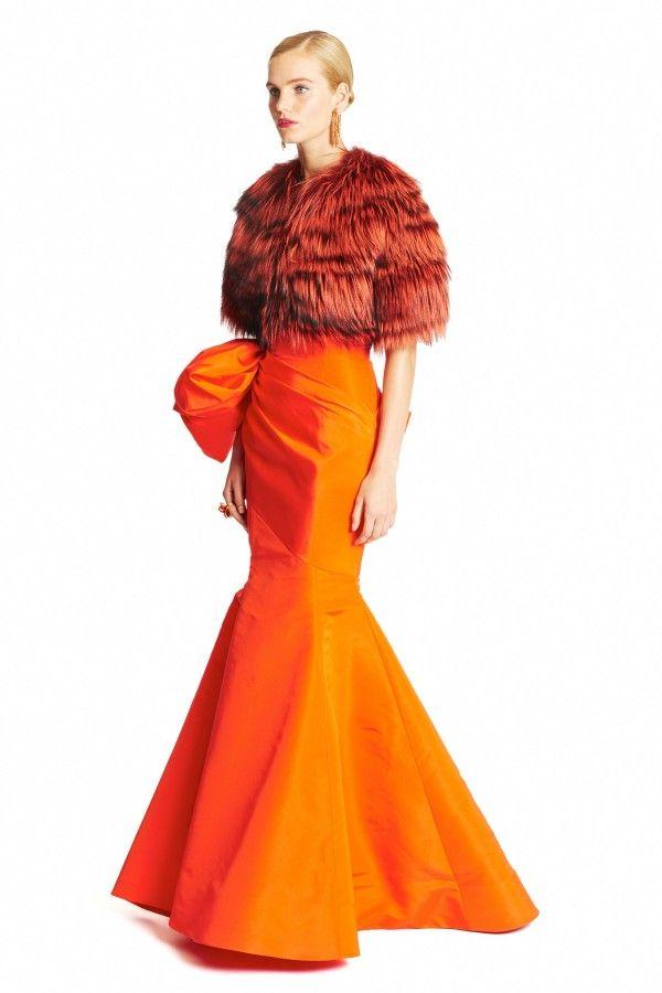 Evening Long and Maxi Dresses 2015. Orange Inspired. Wardrobe Looks