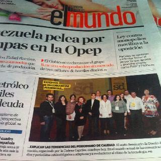 Sdi2012 en portada diario El Mundo. 13 junio 2012
