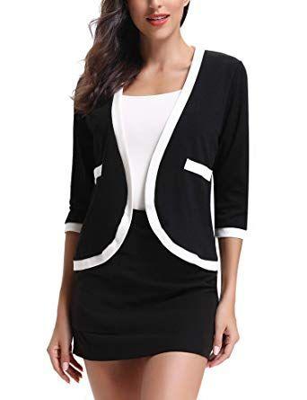 f2a1f3e637d New Abollria Women s 3 4 Sleeve Open Front Cardigan Blazers Jacket online    18.99  findanew