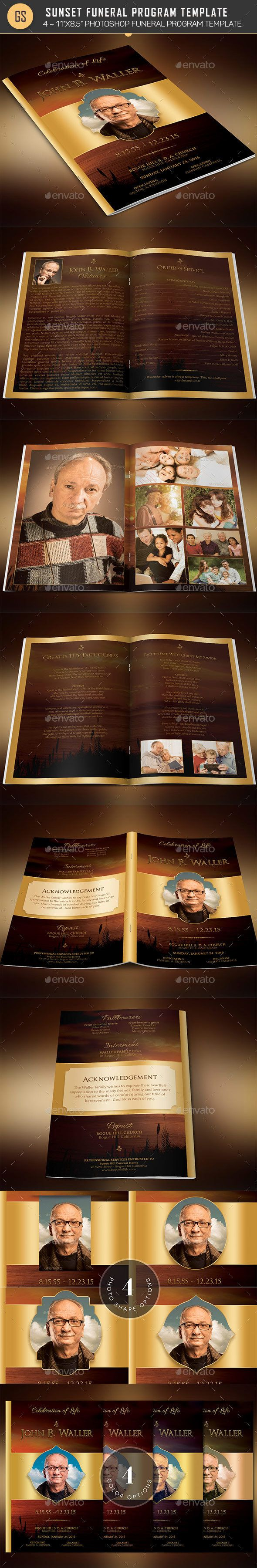 30 best top funeral program template designs images on pinterest