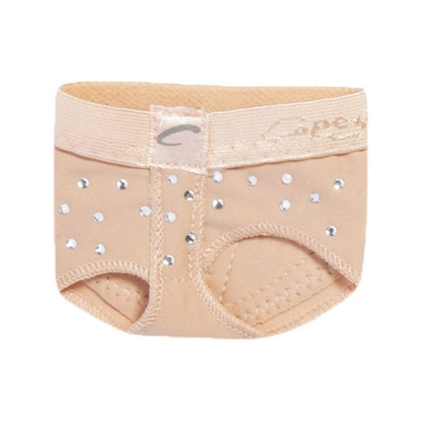 Capezio Dance Rhinestone Footundeez - Nude Ballet Shoes ($28) ❤ liked on Polyvore featuring shoes, beige, nude footwear, flexible shoes, skimmer shoes, nude ballerina shoes and beige ballet shoes