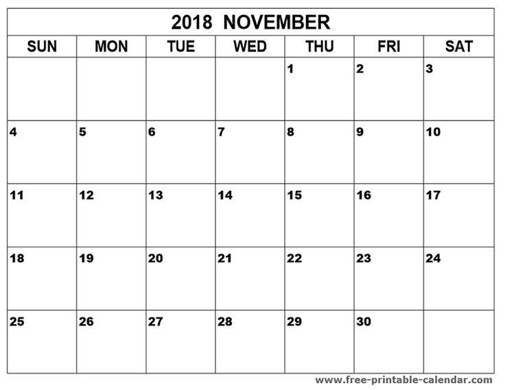 167 best Print 2018 calendar images on Pinterest Monthly - blank monthly calendar template word