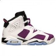 543389-127 Air Jordan 6 GS White/Vivid Pink-Bright Grape-Black Online $149.00  http://www.theblueretros.com