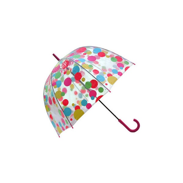 Birdcage Candy Spot - patterned PVC Dome Umbrella ($26) ❤ liked on Polyvore