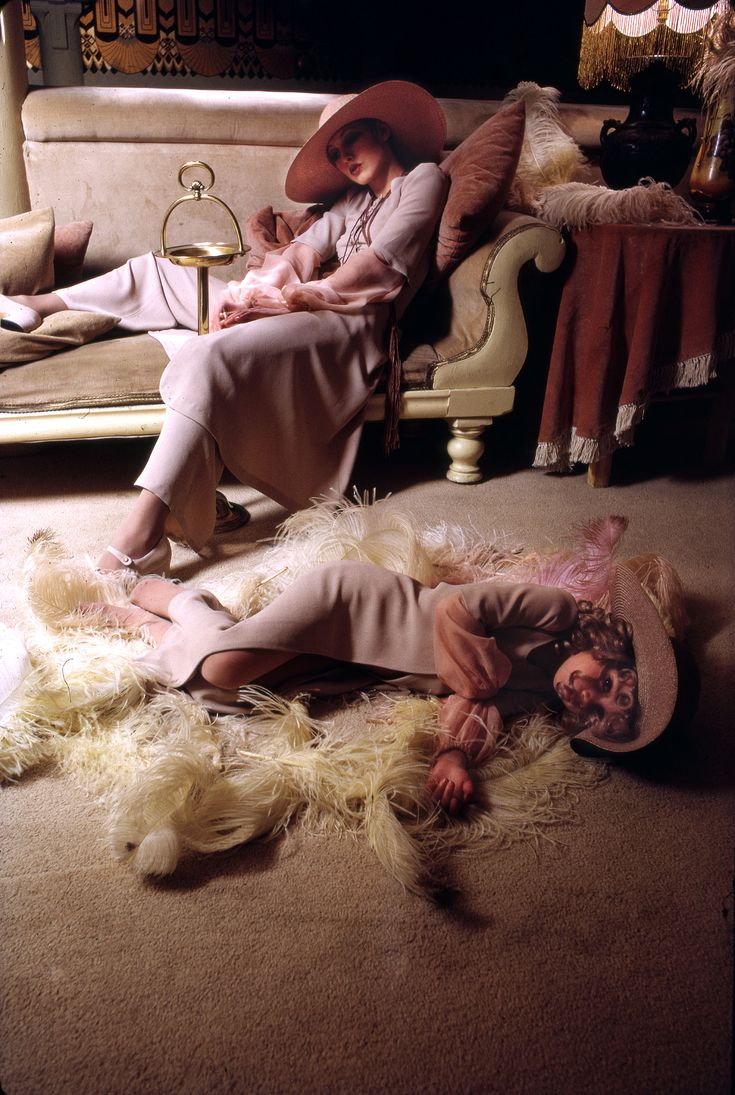 Biba models, c1973, photographed by Brian Duffy © Duffy Archives.