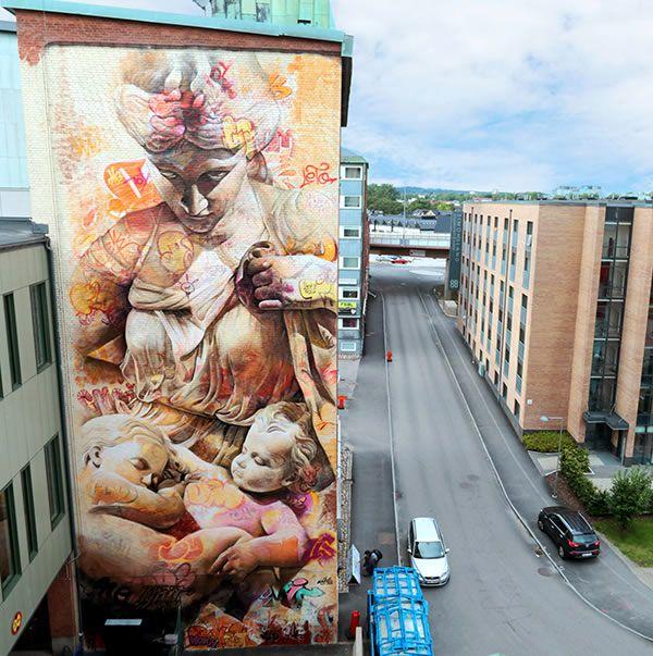 Best Art Street Public Images On Pinterest Office Mural - Beautiful giant murals greek gods pichi avo