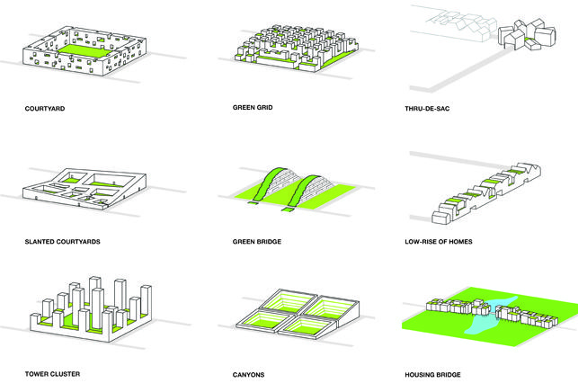 """""""Housing Typologies"""" by WORK Architecture Company that examine new relationships between cities and nature. (2012)"""