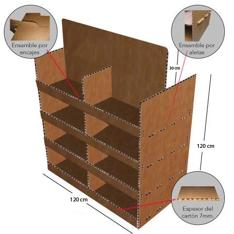 Las 25 mejores ideas sobre exhibidores de carton en for Factory muebles malaga