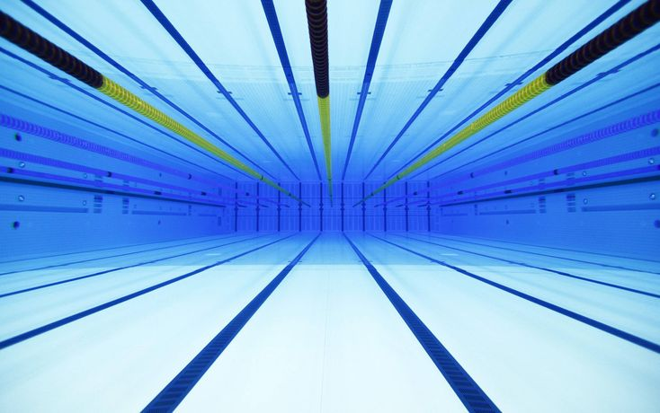 London's Olympic swimming pool - silly's you can't play polo with lane lines in ;)
