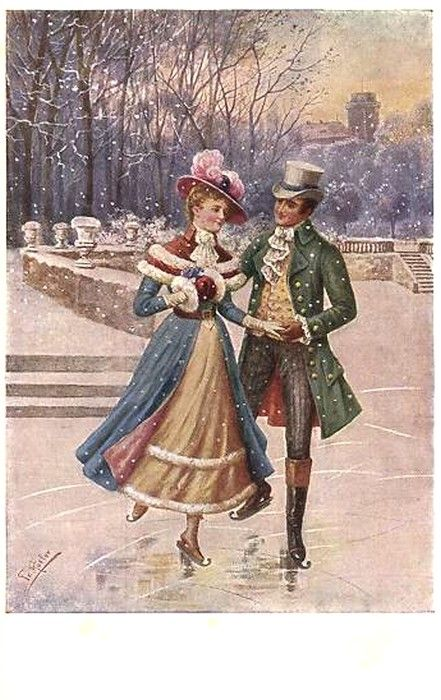 Old  Post Card  — Figure skating (441x700)