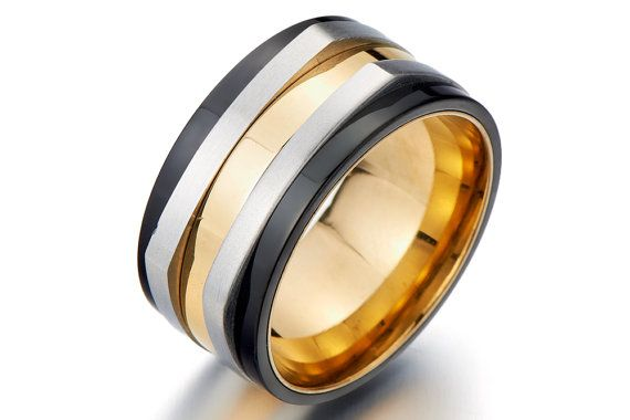 Gift for Boyfriend Anniversary/Men's Wedding Ring/Men's Wedding Band/Men  Promise Rings for Guys/Cool Mens Wide Band Ring