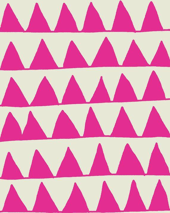 Fine Art Print.  Pink Triangles.  August 3, 2011.. $80.00, via Etsy.